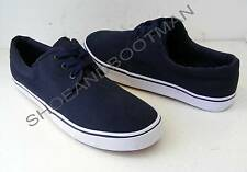 Mens Navy Blue Canvas Boating Deck Casual Lace Up Plimsoll Summer Shoes UK 8.