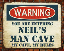 PERSONALISED METAL VINTAGE MAN CAVE SIGN BAR GIFT BROTHER DAD CHRISTMAS GARAGE