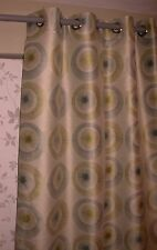 """NWOT 47""""/120cm W X 54""""/138cm  L"""" LINED MODERN RING TOP SHORT CURTAINS/DRAPES"""