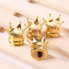 4x Gold Crown Alloy Motorcycle Bike Car Wheel Tire Tyre Valve Dust Caps Covers