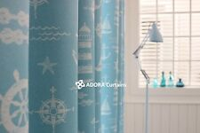 MARINE Blockout Curtain : SKY BLUE 130cm x 233cm