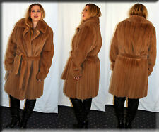 New Dyed Mink Fur Coat - Size Large 10 12 L - Efurs4less