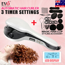 PRO Perfect LCD Salon Automatic Anion Hair Curler + Hair Clip Styling Accessory