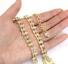 Gold Belt or Belly Chain with 2 Rows Crystal, in a gift Box