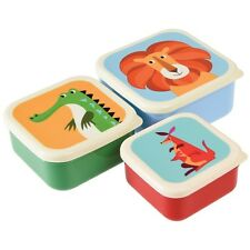 dotcomgiftshop SET OF 3 COLOURFUL CREATURES SNACK BOXES