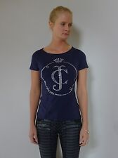 Juicy Couture S 10 unused blue t-shirt top silver crown logo as new