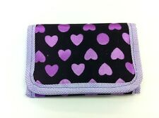 KIDS GIRLS LILAC PURPLE FURRY HEARTS RIPPER WALLET COIN PURSE PARTY BAG FILLER