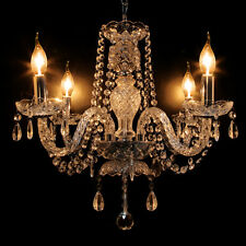 Crystal Ceiling 4 Lamp Chandelier Light Lighting French Provincial Vintage