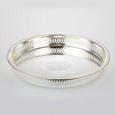serving tray Silver round 28cm big plate decoration bowl Untersetzter under