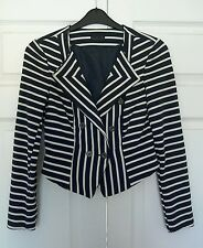 Smart navy and white Vero Moda Jersey jacket size 36 UK 8 nautical