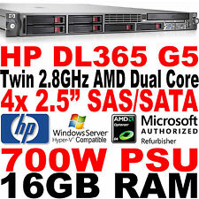 HP ProLiant Rack Server DL365 G5 Twin AMD Dual Core 2.8GHz 16GB RAM SAS/SATA