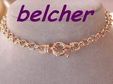 10k 10c 10kt GP ROSE GOLD BELCHER BRACELET 7MM WIDE BOLT 20CM NEW not 9k 41820R