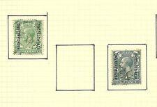 1913 KGV SG73 and SG80 4d grey green RARE  BECHUANALAND CV £26