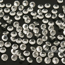 1000Pcs  Diamond Confetti Table Scatters Clear 4.5mm Wedding Party Decoration