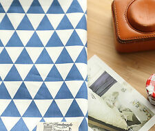 Blue triangle 100% Cotton Remnant  fabric 160 x 22.5 cm Quilting fabric off