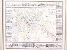 Alter Nostalgie Druck Grundriss von Berlin Repro nach Möllendorf 1825 | 54x47 cm