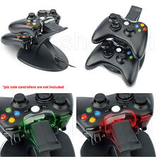 DUAL USB CHARGER DOCKING STATION CHARGING STAND FOR XBOX 360 WIRELESS CONTROLLER