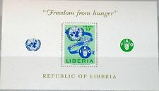LIBERIA 1963 Block 26 S/S C150 Freedom from Hunger FAO & UNO Emblem Food MNH