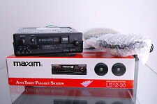 Maxim LS12-30 Vintage Car Stereo Radio Cassette & Speakers Brand New Boxed NOS