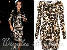 Topshop Petite Tribal Snake Animal Print Bodycon Mini Dress - UK10/EU38/US6