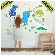 Childrens Dino in the Dark Dinosaurs Wall Stickers Decals Nursery Room