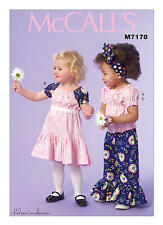 McCall's Sewing Pattern M7178 Toddler Top,Pants,Dress size CB 1,2,3