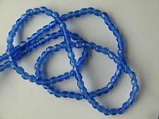 Czech Firepolish 3mm Seed Beads Cobalt Blue (16 inch - approx 130 beads)