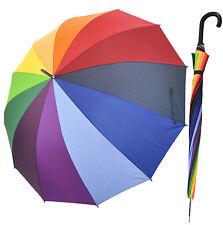 XXL Regenschirm Partnerschirm Regenbogen Schirm Ø130cm Stockschirm bunt neu
