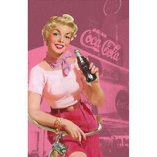 Coca Cola Vintage Pinup Tea Towel ~ Rockabilly Advertising 50s 40s Retro Kitchen