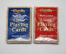 2x New Playwrite Brand Plastic coated standard size cards 1 red & 1 blue