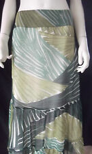 KATIES Long Green Tiered Skirt size 20