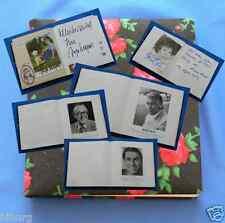 Rarität Autogramm Sammelalbum  mit  16  Original signierten Autogrammen