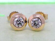 Diamant Brillant Ohrstecker 750 Gelbgold 18Kt Gold 0,30ct Solitär Wesselton H