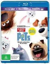 The Secret Life Of Pets (3D + 2D Blu-ray + UV) *** BRAND NEW & SEALED ***
