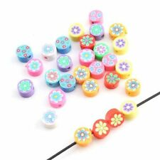 200x 110938 New Hot Sell Charms Mixed Round Oblate FIMO Polymer Clay Beads 6mm