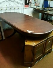 Oval Mahogany Colour Extending Dining Table Ref 0159