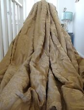 MASSIVE DESIGNER single CURTAIN heavy FLOCKED CHENILLE French DAMASK interlined