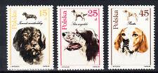 Polen Briefmarken 1989 Hunde Mi.Nr.3197+3201+2 ** postfrisch