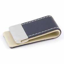 Black Synthetic PU Leather & Metal Money Clip - Great Gift (MC8B)