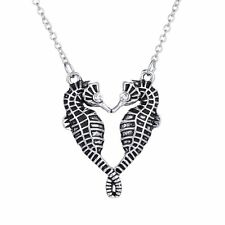 Fashion Women Seahorse Crystal Long Chain Pendant Necklace Family Friend Gifts