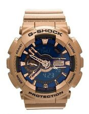 GMA-S110GD-2A Blue Gold Casio Watches G-Shock Analog Digital Resin Band Ladies