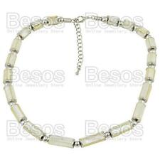 CREAM&SILVER fashion MOP SHELL BEAD NECKLACE inlay mother of pearl beads M&S UK