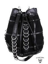 Beuteltasche gothic von Restyle vintage 90er Look schwarz D-Ringe Tasche kult