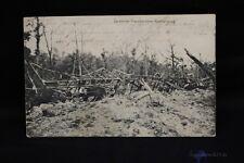 alte AK Zerstörter französischer Munitionszug 1917 bei Trier