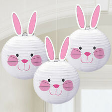 Easter Bunny Shaped Paper Lantern Hanging Decorations x 3