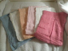 6 Pack Wash Mitts Bath Flannel 100% Cotton Soft Touch Assorted Colours