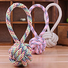 1PC Chew Toy with Knot Tough Strong Puppy Dog Pet Play Cotton Rope Ball Toys CC