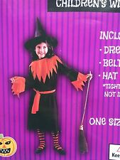 Kids Non-woven Witch Halloween Costume Fancy Dress Party Kid Children