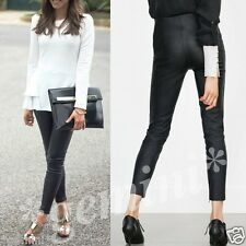 ZARA SIZE L / 38 40 SKINNY BIKER Lederhose Imitat FAUX LEATHER LEGGINGS TROUSERS