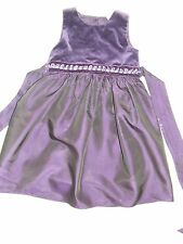 Next Purple party dress age 2-3 years, velvet lined, wedding